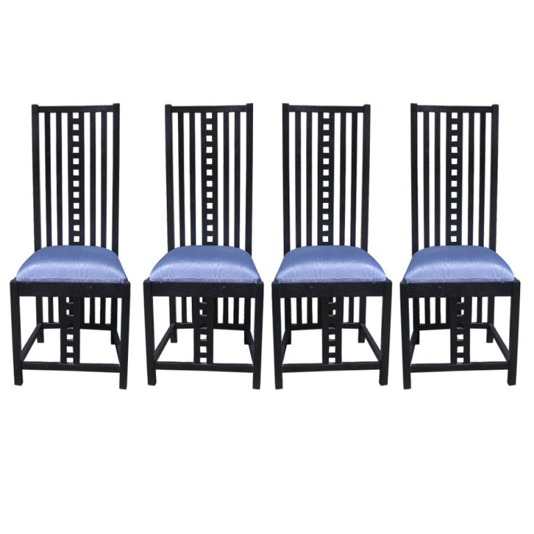 four charles rennie mackintosh chairs at 1stdibs. Black Bedroom Furniture Sets. Home Design Ideas