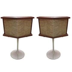 Pair of Bose Saarinen Tulip Base Speakers