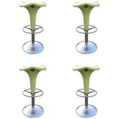 Set of Four Italian Adjustable Bar Stools