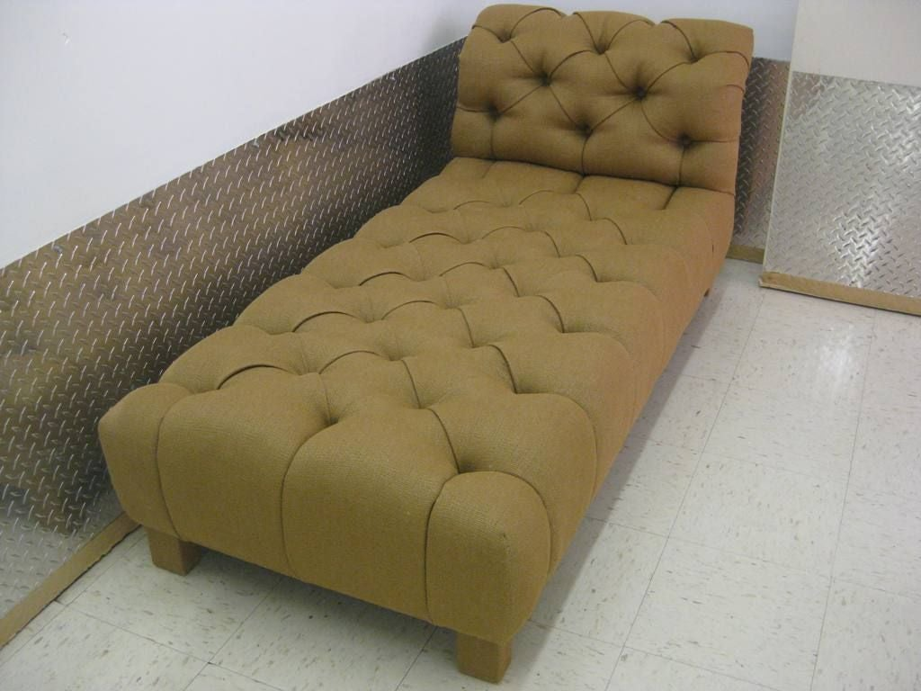 Tufted modern chaise longue for sale at 1stdibs for Chaise longue moderne