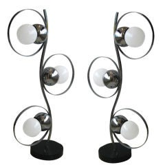 Pair of Tall Modern Table Lamps