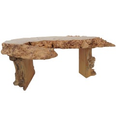 Live-Edge Wooden Cocktail Table