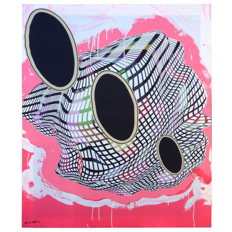Pair of frank stella signed mounted silk scarf for sale at for Minimal art frank stella