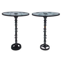 Feliciano Béjar Pair of Small Magiscope End Tables