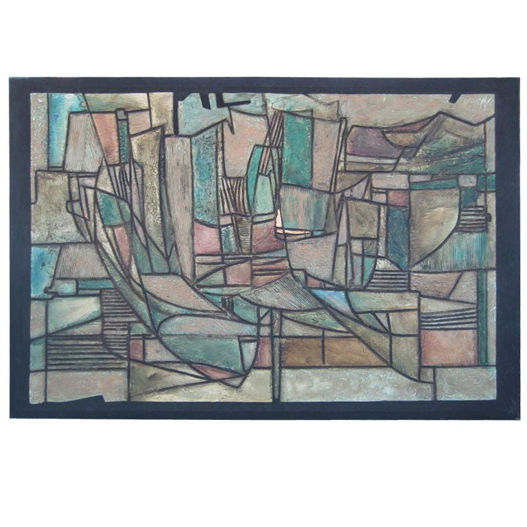 Monumental Abstract Impressionism Painting