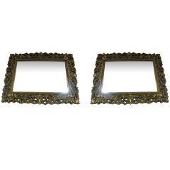Pair of Gilt Rococo Regency Mirrors