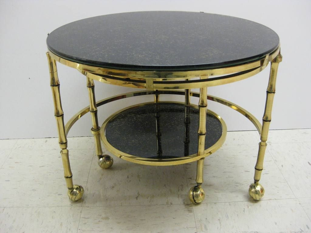 Mastercraft Style Three Tier Nesting Cocktail Or Occasional Table For Sale At 1stdibs