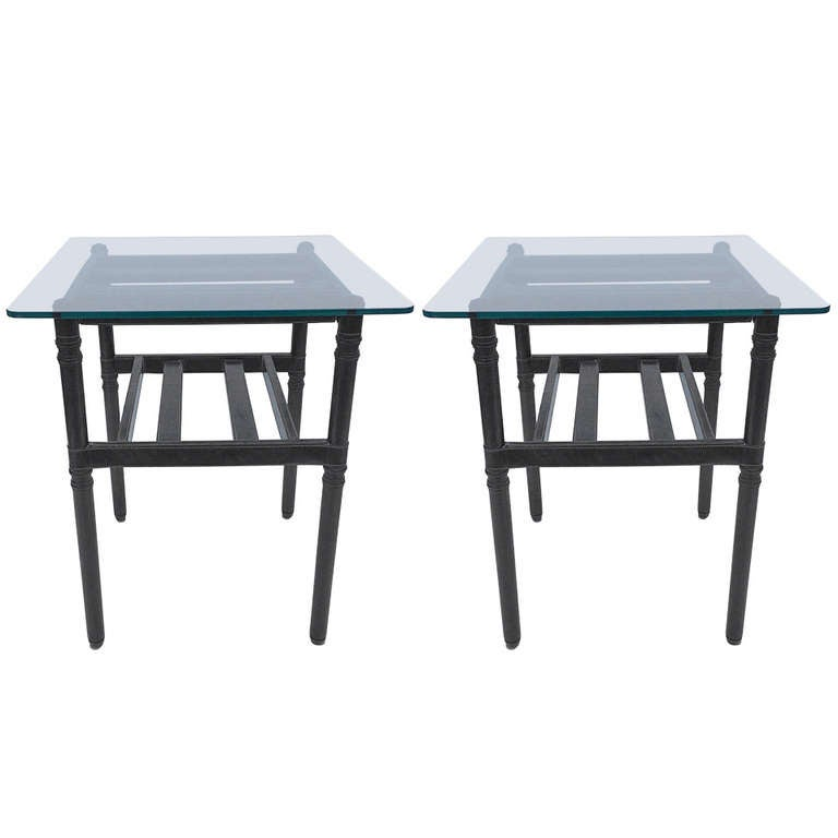 Pair of Petit End Tables after Jacques Adnet