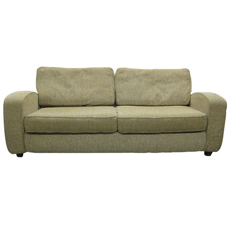 Paul Frankl Sofa ~ Single art deco sofa after paul frankl for sale at stdibs