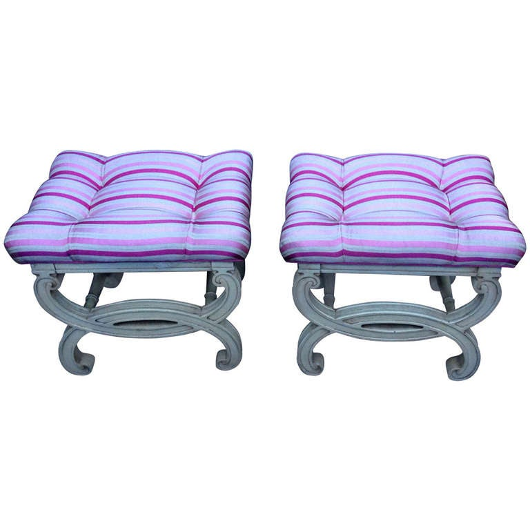Pair of Gorgeous X-Benches
