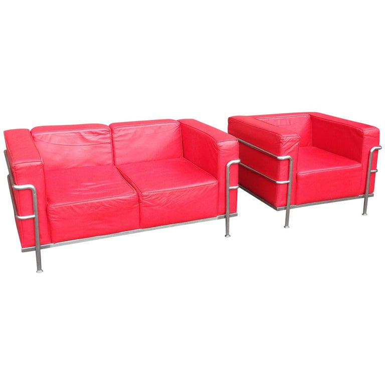 Lounge Chair And Settee After Le Corbusier For Sale At 1stdibs