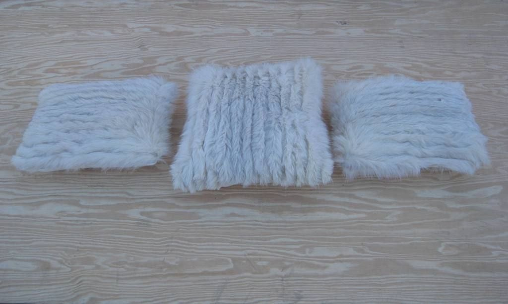 Selection of Luxurious Single and Pairs of Mink, Fox, Fur Pillows For Sale 1