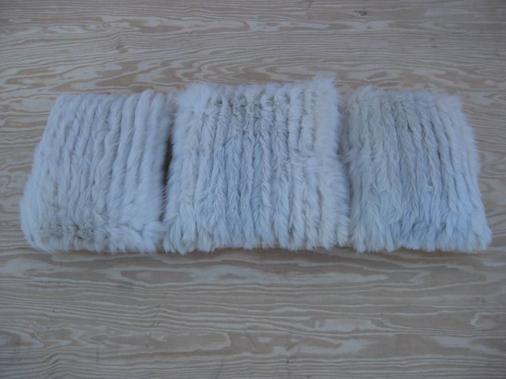 Selection of Luxurious Single and Pairs of Mink, Fox, Fur Pillows For Sale 2
