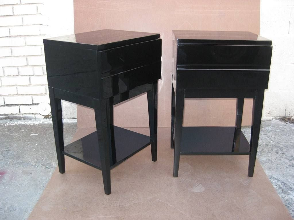 Tall Small Side Table: Pair Of Tall Bedside End Tables At 1stdibs