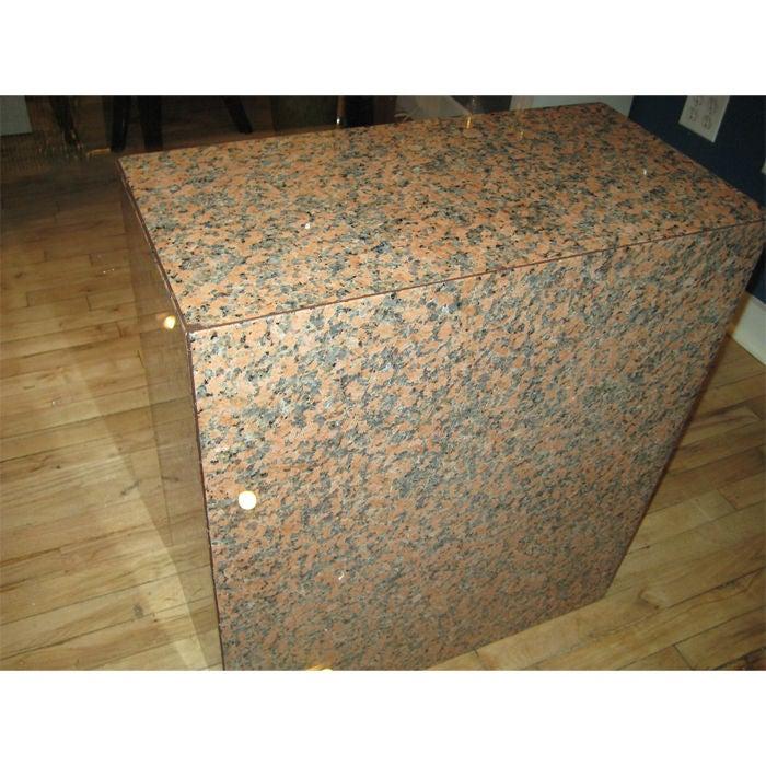 Monumental Glass Table Granite Bases For Sale At 1stdibs