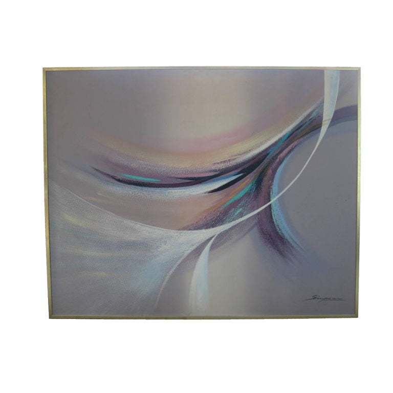 Signed Large Abstract Painting