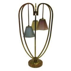 Single Monumental Mid-Century Table Lamp