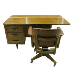 John Widdicomb Cantilever Partners Desk with Chair