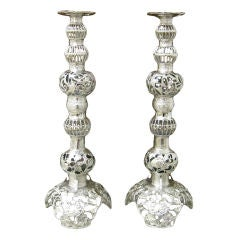 Monumental Pair of Table Lamps or Candlesticks