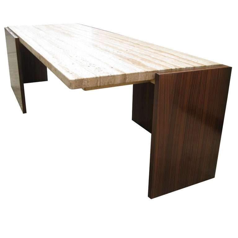 Zebra wood cantilever cocktail table at stdibs