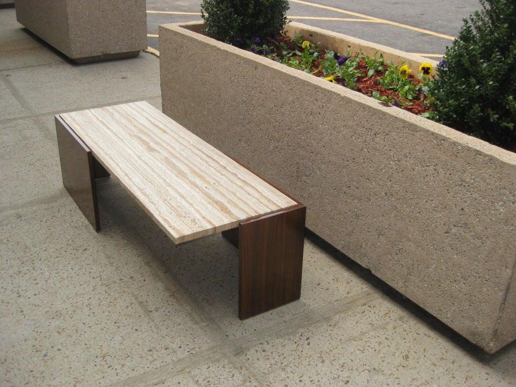 zebra wood cantilever cocktail table at 1stdibs. Black Bedroom Furniture Sets. Home Design Ideas