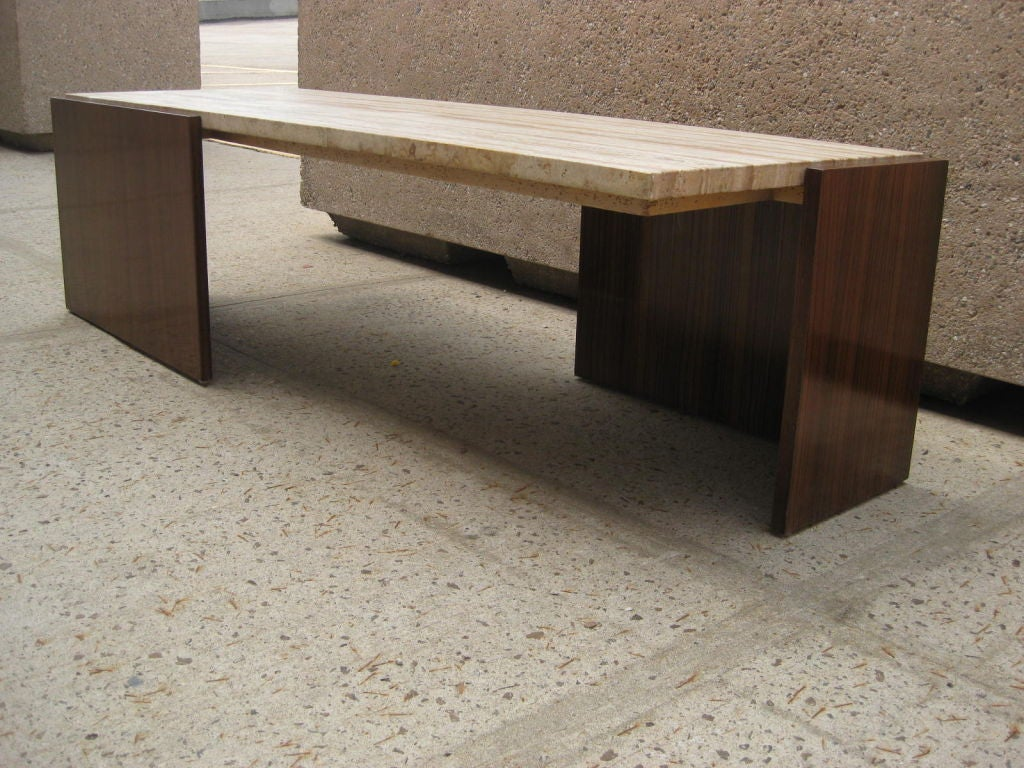Zebra Wood Cantilever Cocktail Table For Sale At 1stdibs