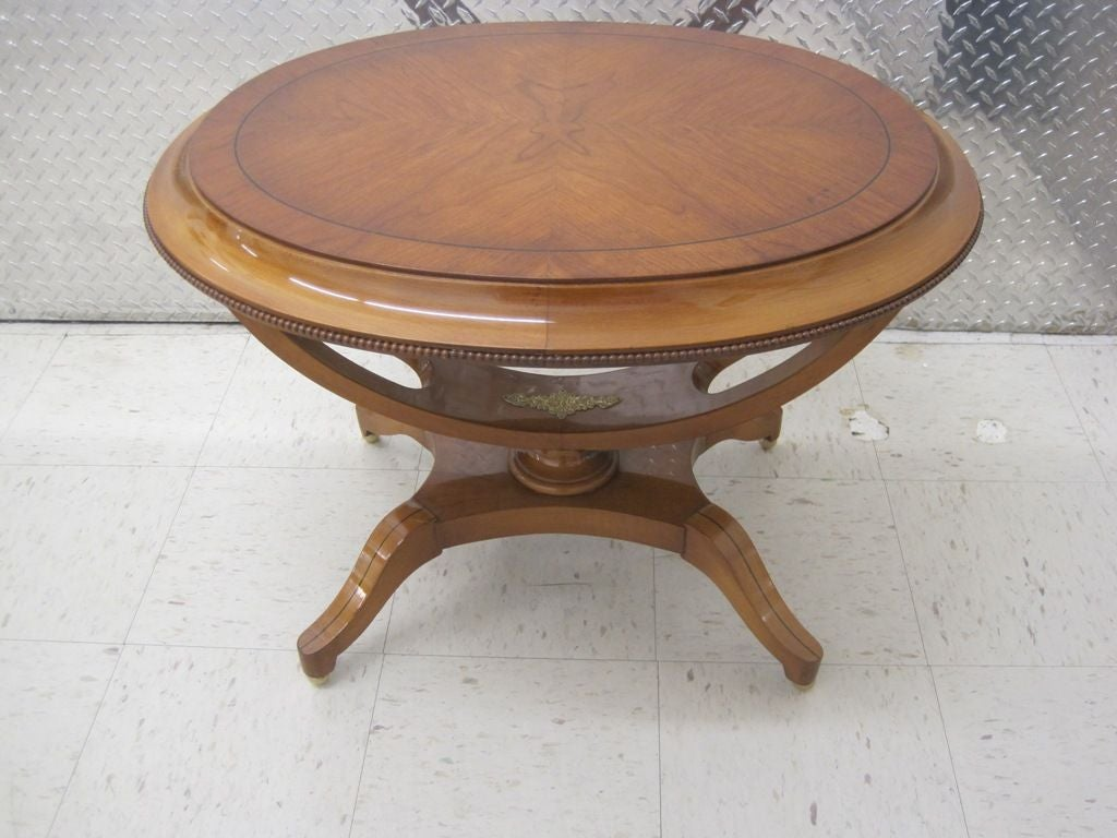 Pair of Exceptional Oval End Tables 3