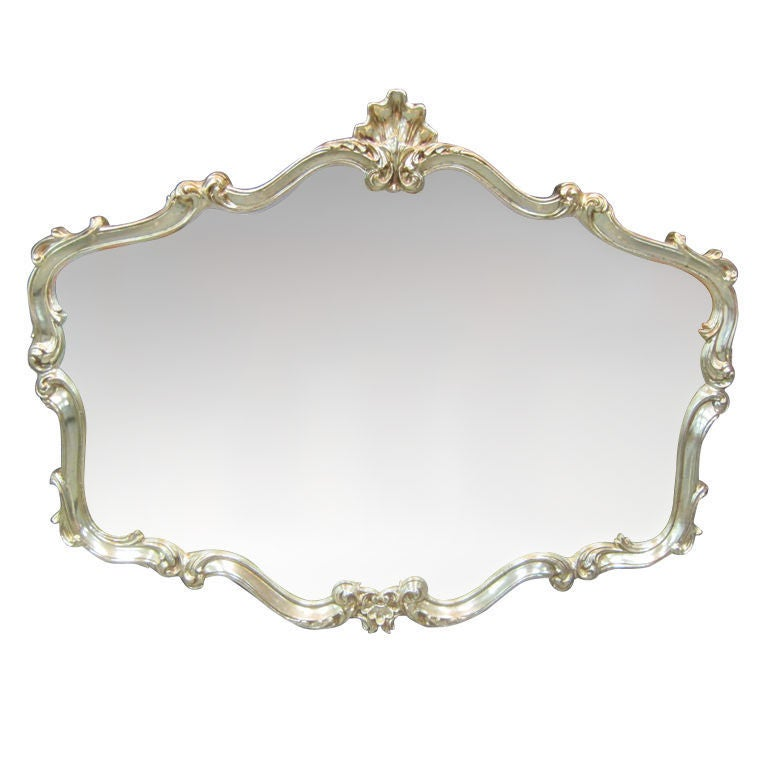white gold gilt mirror at 1stdibs
