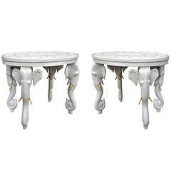Pair of Elephant Side End Tables