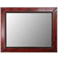 Large Leather Mirror