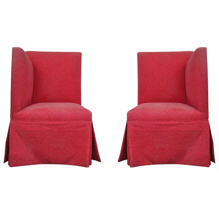 Pair of Rolling Gossip Chairs