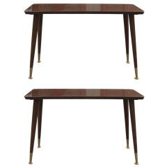 Pair of Narrow End Tables with Removable Legs