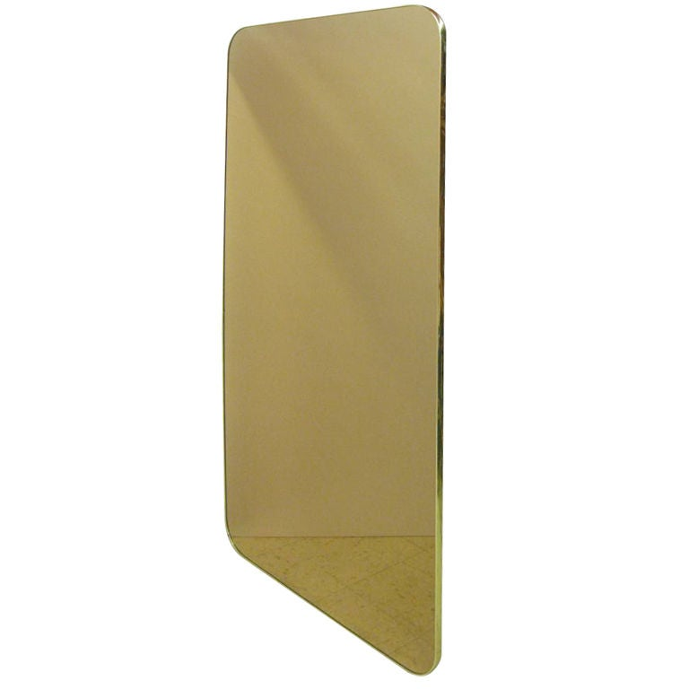 Large Bronze Glass Mirror
