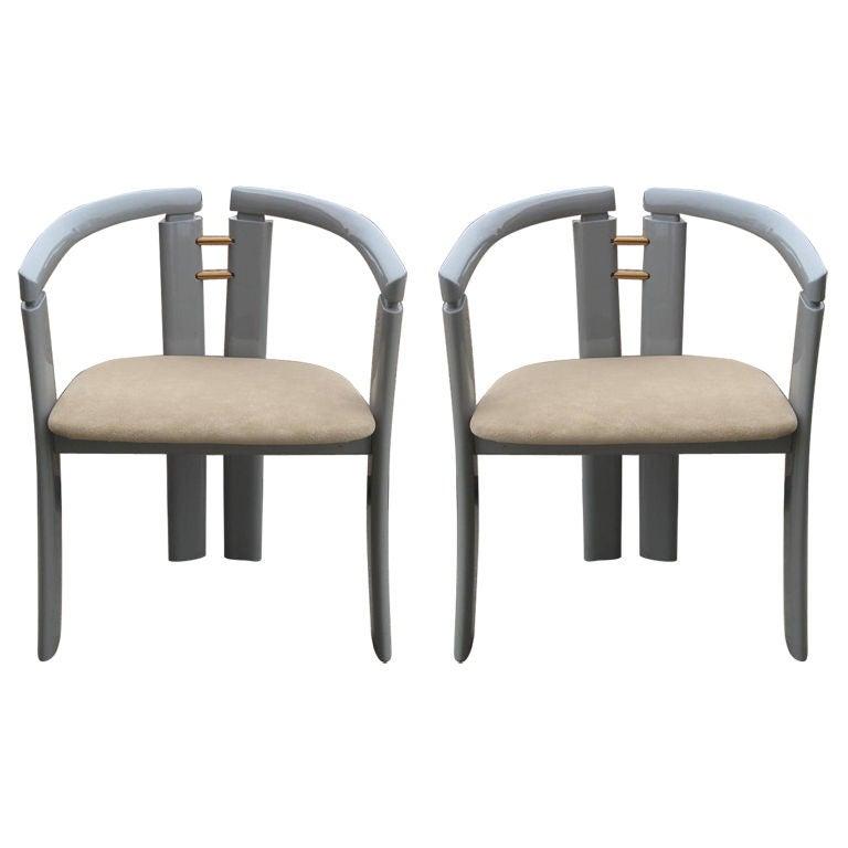 Pair of Ultra-Modern Chairs after Ib Kofod-Larsen 1
