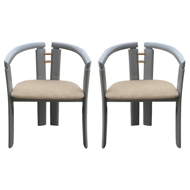 Pair of Ultra-Modern Chairs after Ib Kofod-Larsen For Sale
