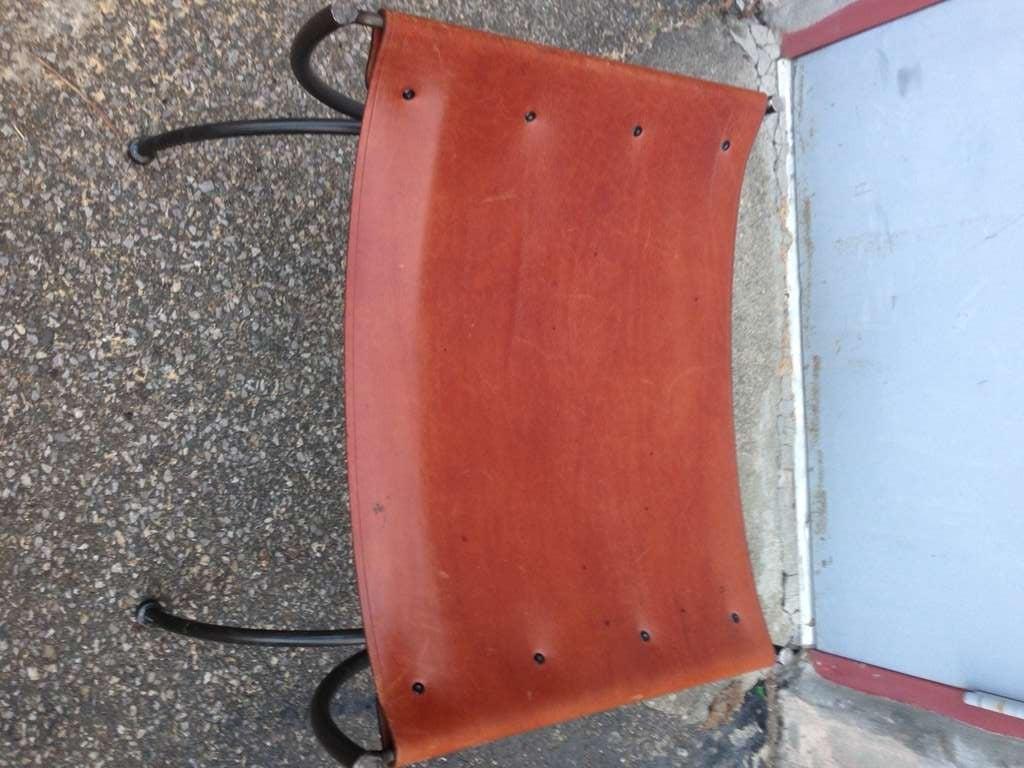 sling bench single leather sling bench after hermes at 1stdibs. Black Bedroom Furniture Sets. Home Design Ideas