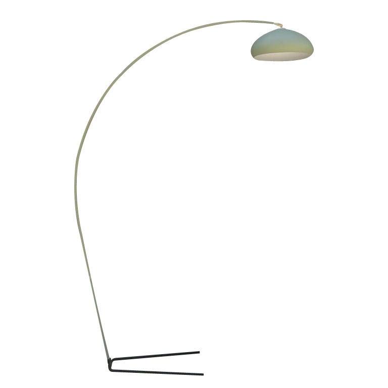 mid century modern monumental arc floor lamp at 1stdibs. Black Bedroom Furniture Sets. Home Design Ideas