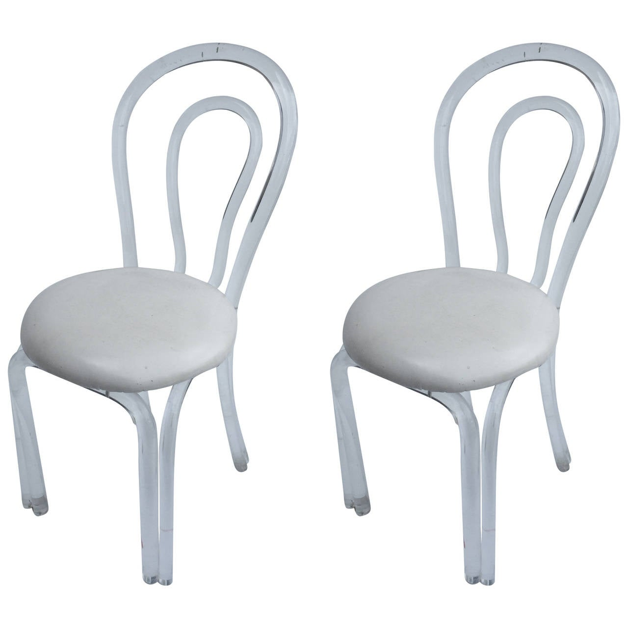 Pair of Hollywood Lucite Chairs 1