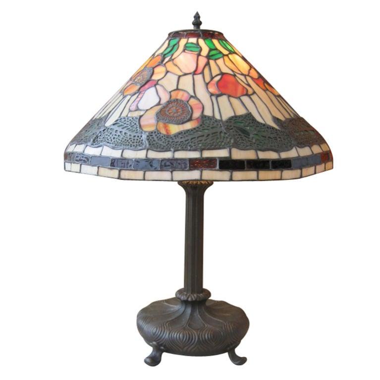 tiffany style lamp for sale at 1stdibs. Black Bedroom Furniture Sets. Home Design Ideas