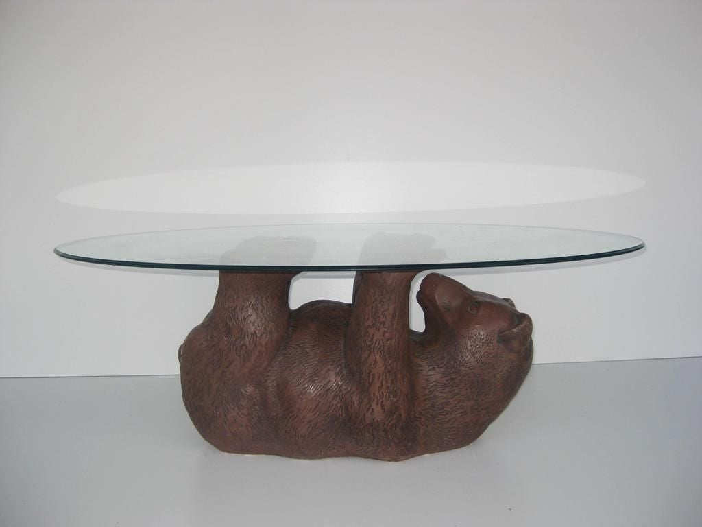 Bear Cub Cocktail Table Oval Round Square Or Rectangle Top At 1stdibs