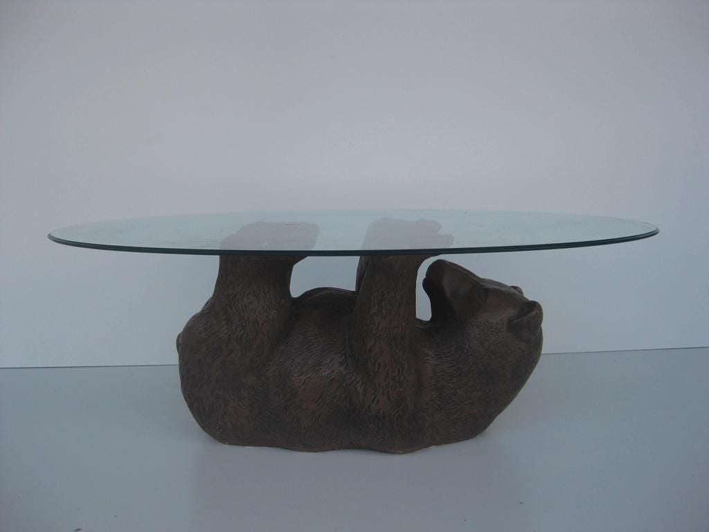 Bear Cub Cocktail Table Oval Round Square Or Rectangle