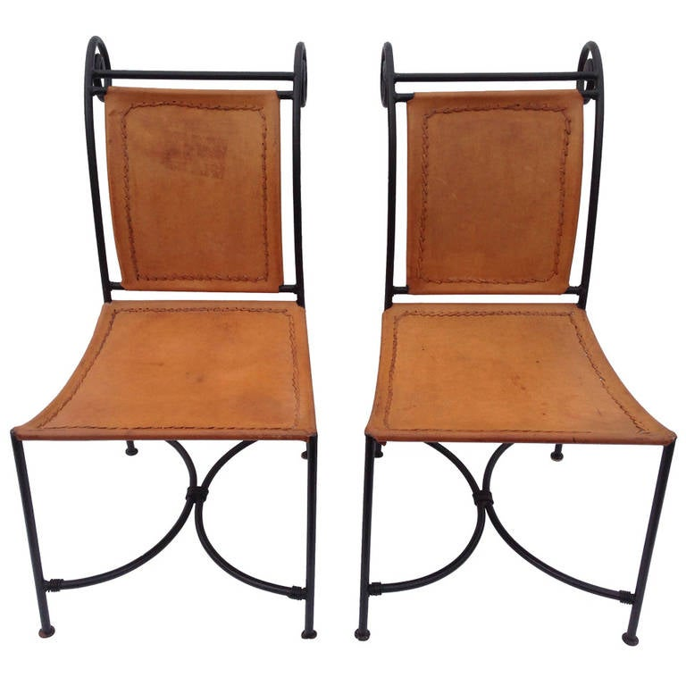 Pair of Chairs after Jacques Adnet