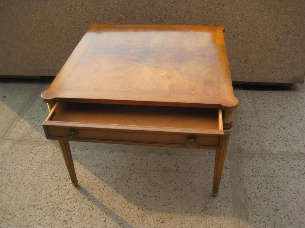Make A Side Table Taller: Tall Square Cocktail Side Or Occasional Table For Sale At