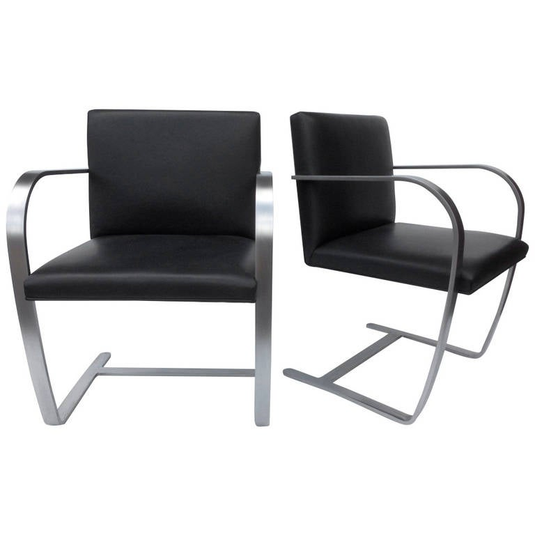 Pair of Armchairs by Mies van der Rohe for Knoll, 1980s