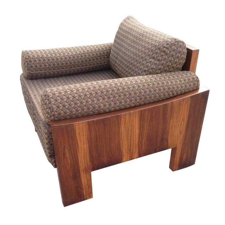Milo Baughman Rosewood Lounge Chair