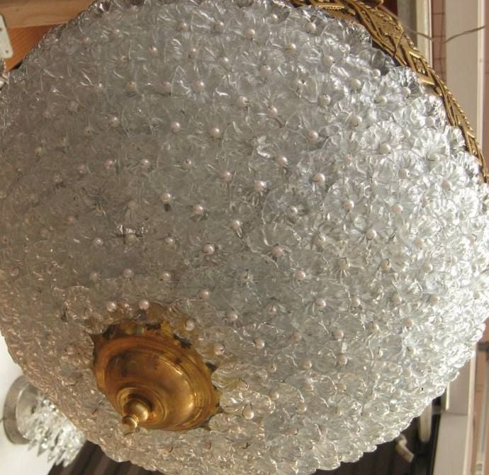 20th Century Tear Drop Floret Chandelier For Sale