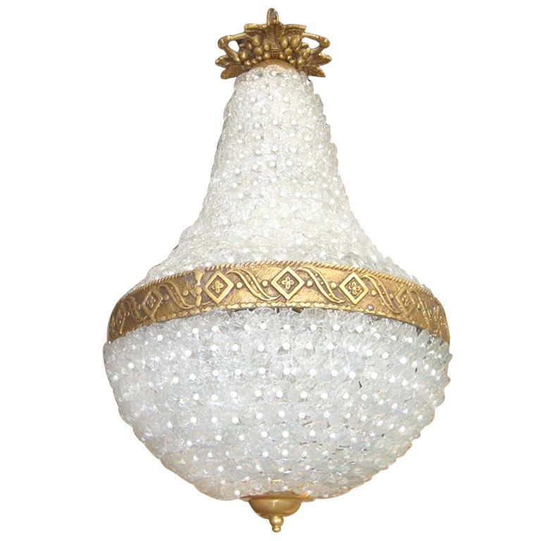 Tear Drop Floret Chandelier For Sale