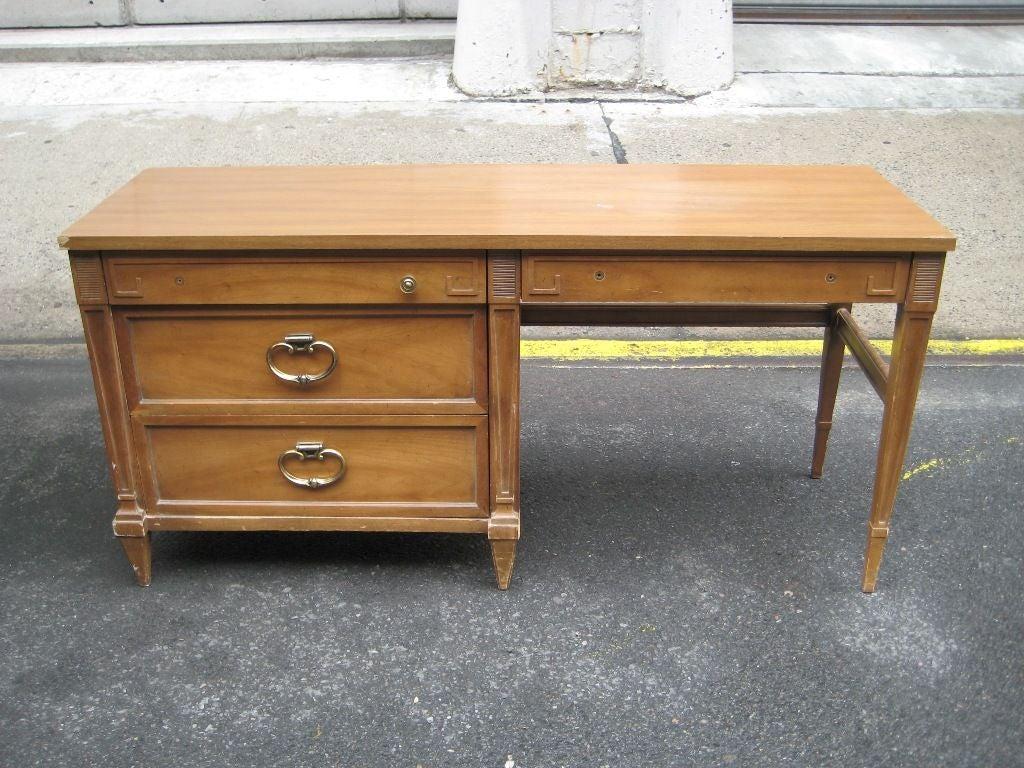 American of martinsville desk at 1stdibs for Vintage american martinsville bedroom furniture