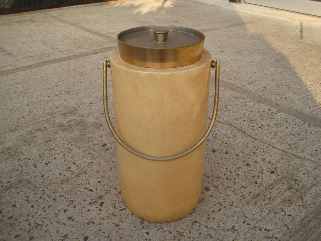 Aldo Tura parchment ice, champagne and wine bucket, this item is on sale for a clearance price,