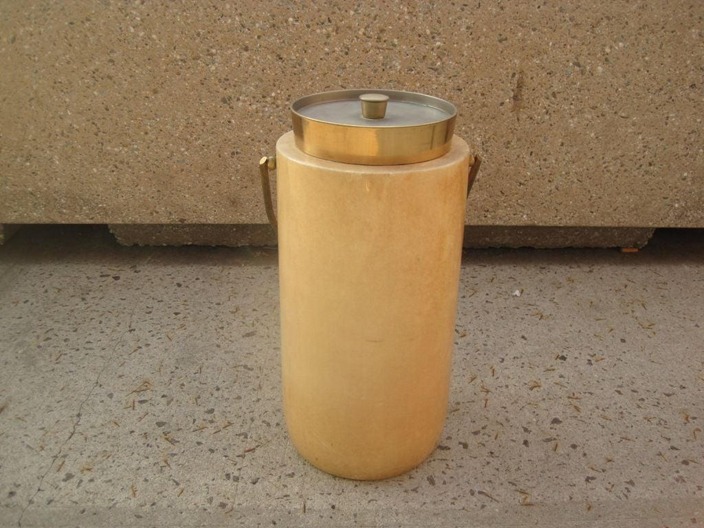 Mid-Century Modern Aldo Tura Large Parchment Champagne Ice Bucket For Sale